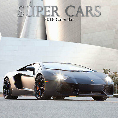 Super Cars 2018 Wall Calendar (Gifted Stationery) NEW, Postage Included