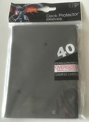 Ultra Pro Oversized Deck Protector Trading Card Sleeves Black 40 Pack Magic MTG