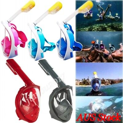 Swimming Diving Full Face Breath Anti-fog Mask Surface Snorkel Scuba Glasses New