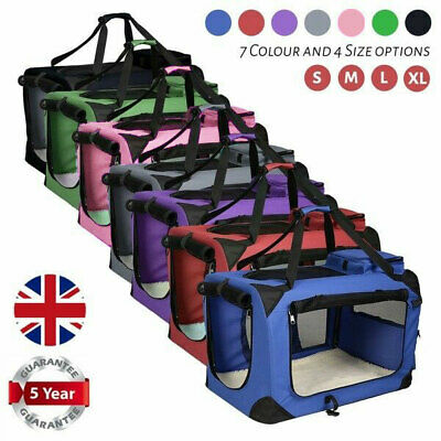 AVC Portable Soft Fabric Pet Carrier Folding Dog Cat Puppy Travel Transport Bag