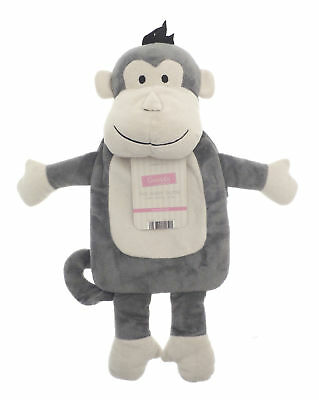 Country Club Hot Water Bottle with Grey Monkey Cover Cosy Warm Plush Kids Child