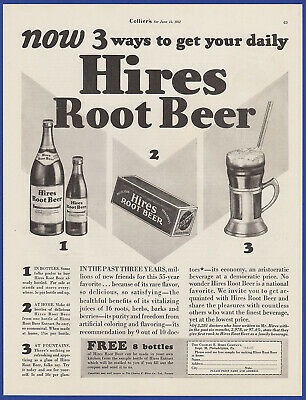 Vintage 1931 HIRES Root Beer Soda Pop Cola Float Kitchen Ephemera Print Ad 30's