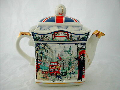 * Rare Theiere De Collection Sadler Porcelaine Anglaise Teapot Piccadilly London