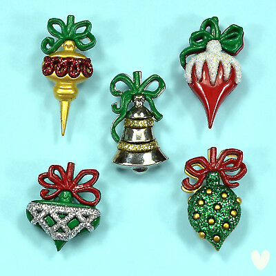 DRESS IT UP Buttons Christmas Ornaments 7475 - Gingerbread Snowflakes Snowmen