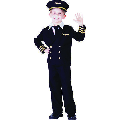 Little Boy Pilot Jacket Costume Set By Dress up America