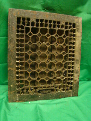 Antique Late 1800's Cast Iron Heating Grate Honeycomb Design 14 X 12 Gf