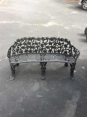 Victorian Cast Iron Bench - Mid Century Grapevine Pattern