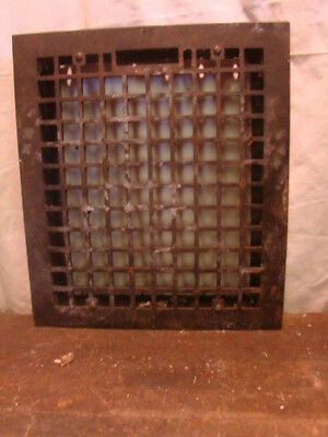 Vintage 1920S Cast Iron Heating Grate Cover Square Design 16 X 14