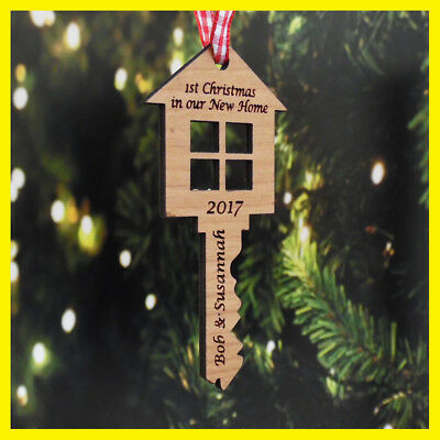 Personalised First 1st Christmas Our / Your New Home Xmas Tree Decoration Key