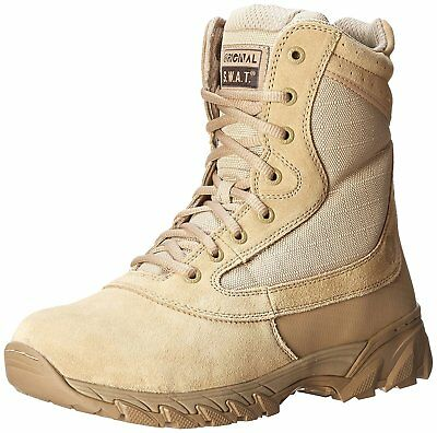Original S.W.A.T. Men's Chase 9 Inch Side Zip Tactical Boot, Tan