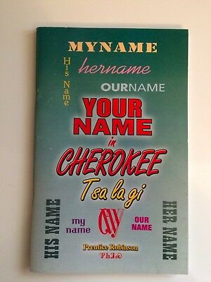 Your Name In Cherokee - Book Native American