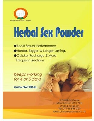 Herbal Sex Powder For Male- 5 grm / sachet; 6 sachets / bag