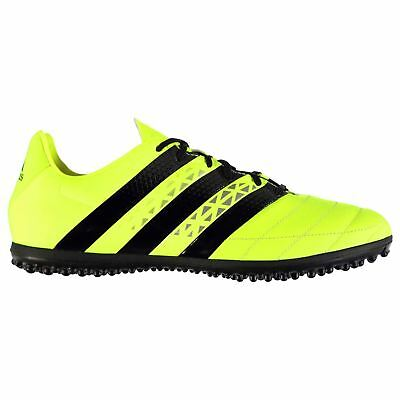 adidas Ace 16.3 Leather AG Artificial Grass Trainers Mens Yel Football Soccer