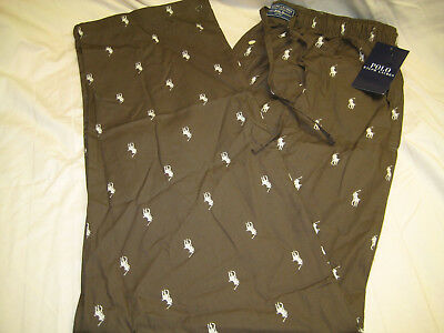 Polo Ralph Lauren Pajama Pants Sleepwear, Allover Pony, Medium, New with Tags