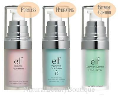 ELF E.L.F. Cosmetics FACE PRIMER Makeup Foundation Base PORELESS HYDRATING Clear