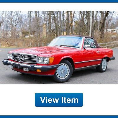 1987 Mercedes-Benz SL-Class Base Convertible 2-Door 1987 Mercedes Benz 560SL 560 Low 85K Rear Seat Hard Soft Top CARFAX