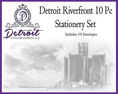 Detroit Riverfront 20 pc Stationery Set