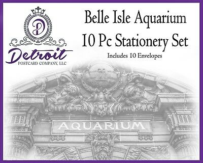 Detroit Belle Isle Aquarium 10 pc Stationery Set