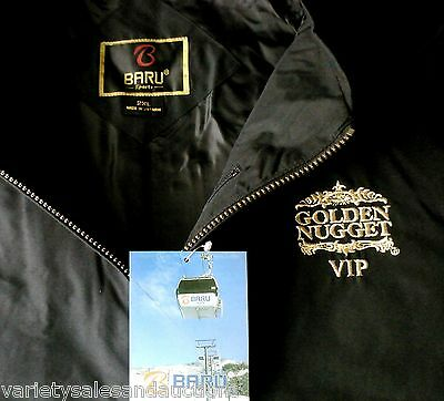 NEW 2XL $140 Las Vegas Black CASINO Golf JACKET Golden Nugget GIFT for MEN XXL