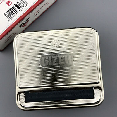 GIZEH Automatic Rolling 70mm Box Metal Roller Cigarette Tobacco Roll Box New