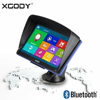 "XGODY 7"" Car Truck AUTO Navegador GPS Bluetooth 8GB AV-IN Coche Europa Maps"