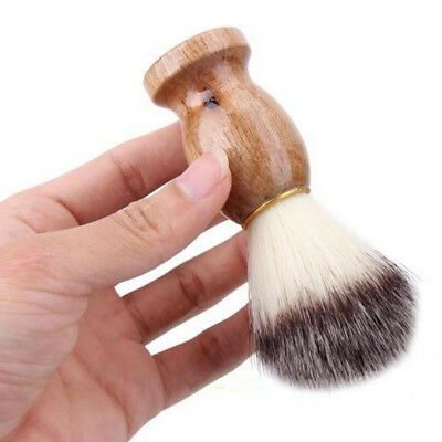 Men's Shaving Bear Brush Kit Badger Hair Shave Wood Handle Barber Tool New