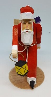 Hand Carved German Dregeno Santa with Lantern and Gifts, New, 225/224