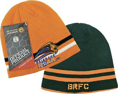 Brisbane Roar A League Reversible Beanie 2 in 1 Design