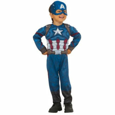 Captain America Muscle Chest Toddler Halloween Costume 3T-4T