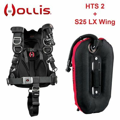 Hollis HTS 2 + S25 LX Wing BCD Harness Tech System Buoyancy Control Device - AU