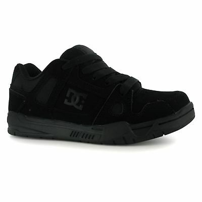 DC Stag Skate Shoes Juniors Black Trainers Sneakers