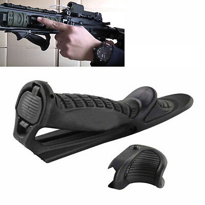 Tactical Ergonomic Forward Point Angled Fore Grip W/ Thumb Lock Hand Stop
