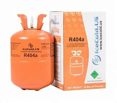 R404a, R404, R-404, 404a Refrigerant 24 Pound tank. New, Full and Factory Sealed