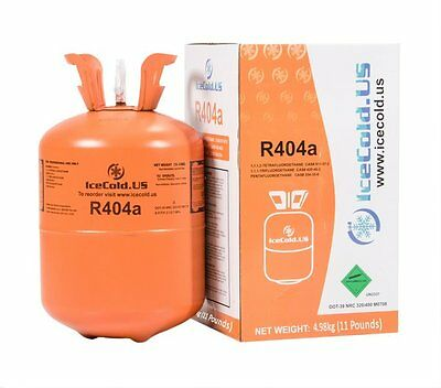 R404a, R404, R-404, 404a Refrigerant 11lb tank. New, Full and Factory Sealed