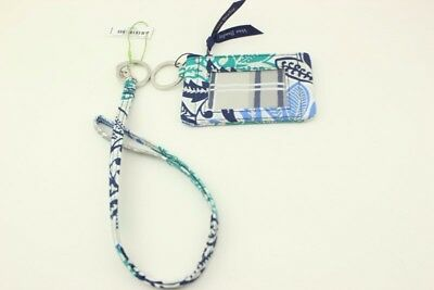 New with tags Vera Bradley Zip ID Case and Lanyard in Santiago