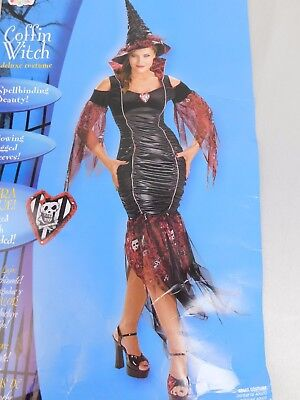 Disguise Deluxe Sexy Coffin Witch Adult Halloween Costume Size 12-14 #5120