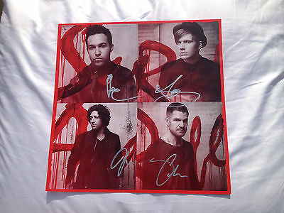 FALL OUT BOY - Poster signed in person autograph by all four members !!!