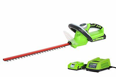 Greenworks 24v Lithium-Ion Cordless Hedge Trimmer 47cm Blade 17mm Gap RRP £129