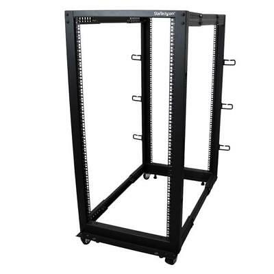 STARTECH 25U Adjustable Depth Open Frame 4 Post Server Rack Cabinet - Flat Pack
