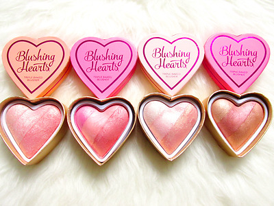 Makeup Revolution I Heart Blushing Heart Baked Bronzer Highlighter Unicorn 10g