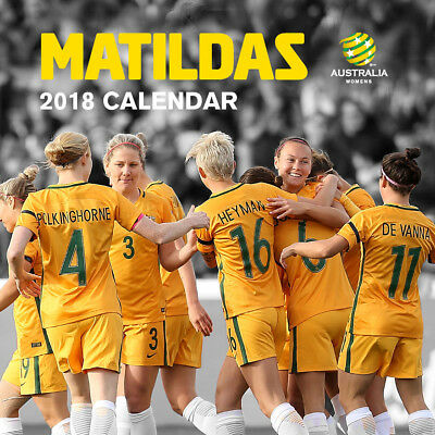 Matildas Official 2018 Wall Calendar (Paper Pocket) NEW, Postage Included