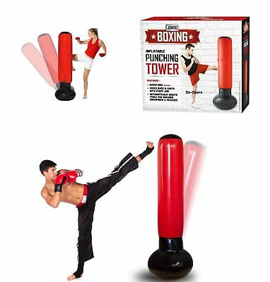 Sacco da Box Gonfiabile Boxing Torre Jumbo Punching Soft Tower Karate Fitboxe