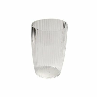 Carnation Home Fashions Ribbed Acrylic Tumbler, Clear CAR-BA-ASR/TU/26