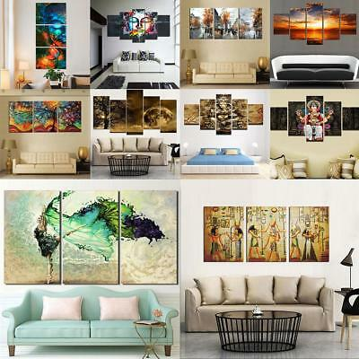 Unframed Abstract Art Modern Pictures Wall Oil Painting Canvas Print Home Decor