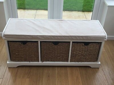 Dunelm Cottage Ivory Storage Bench