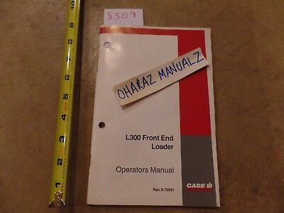 CASE L300 Front End Loader Operators Manual case l720 l730 loader operator's manual 84157387 $19 22 picclick