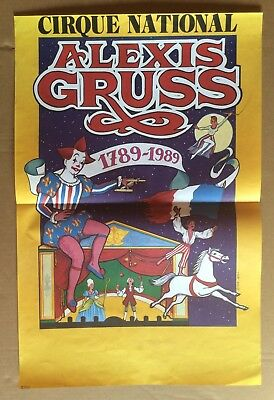AFFICHE CIRQUE : Cirque National Alexis Gruss 1989