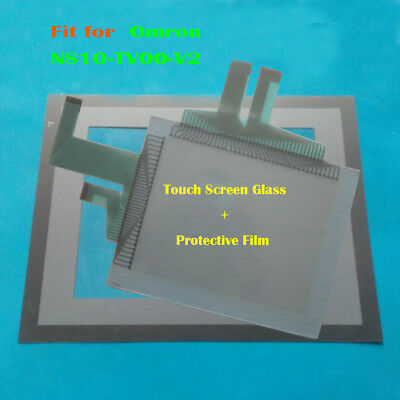 For Omron NS10-TV00-V2, NS10TV00V2 Touch Panel Glass + Protective Film New