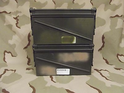 Lot of 2 Military Army Surplus 40mm PA-120 Large Ammo Cans Boxes Grade 2 good