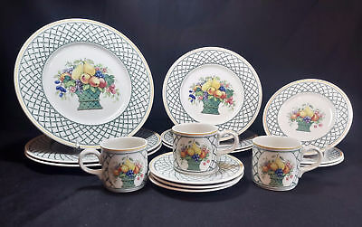 Villeroy & Boch Basket  Set of Three 5 Piece Place Settings